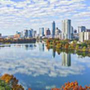 Fall Austin Skyline Poster