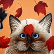 Fall Cat Poster