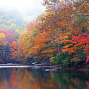 Fall Color Williams River Mirror Image Poster by Thomas R Fletcher
