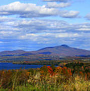 Fall Colors At Lake Carmi Poster