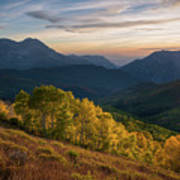 Fall Evening In American Fork Canyon Poster