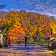 Fall Foliage Gated Estate Poster