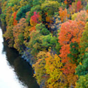 Fall Foliage In Hudson River 1 Poster