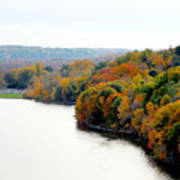 Fall Foliage In Hudson River 13 Poster