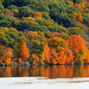 Fall Foliage In Hudson River 14 Poster