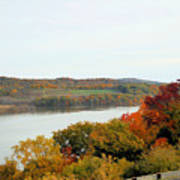 Fall Foliage In Hudson River 5 Poster