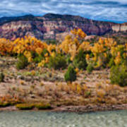 Fall Foliage Near Ghost Ranch Poster