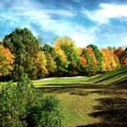 Fall Golf Course Beauty Poster