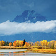 Fall At The Oxbow Poster