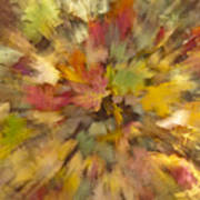 Fall Leaves Abstract Poster