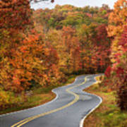 Fall Mountain Road Poster