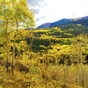 Fall Mountain Scenery Poster