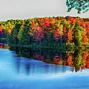 Fall On The Lake In Wisconsin Poster