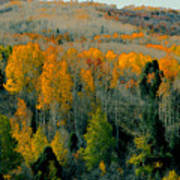 Fall Ridge Poster by David Lee Thompson