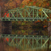 Fall Rocks Village Bridge Poster
