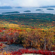 Fall Scenic View Of Bar Harbor Poster
