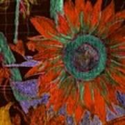 Fall Sunflower Poster