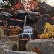 Fall Waterfall Poster