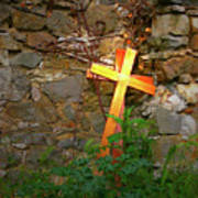 Falling Crosses Poster
