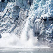 Falling Ice In Alaska Poster