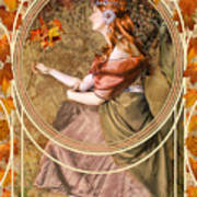 Falling Leaves Poster by John Edwards