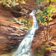 Falls At Hocking Hills Poster