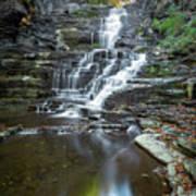 Falls Creek Gorge Trail Reflection Poster