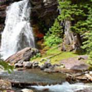 Falls Glacier National Park1 Poster