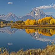 Falltime At Oxbow Bend Poster