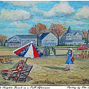 Falmouth Heights Beach On A Fall Afternoon Poster