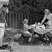 Family Bbq, C.1960s Poster