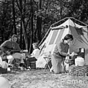 Family Camping, C.1970s Poster