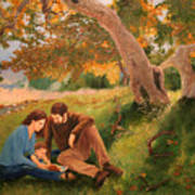 Family Portrait Under A Tree Poster