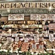 Famous Fish At Pike Place Market Poster