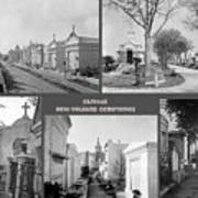 Famous New Orleans Cemeteries  Poster