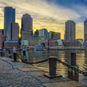 Fan Pier Boston Harbor Poster