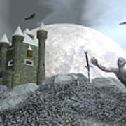 Fantasy Castle - 3d Render Poster