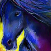 Fantasy Friesian Horse Painting Print Poster