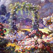 Fantasy Garden Delights Poster by David Lloyd Glover
