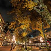 Fanueil Hall Boston Ma Autumn Foliage Poster