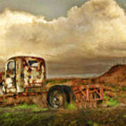 Far Rusted Truck Poster