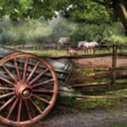 Farm - Horse - Grey Mare Poster