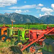 Farm  Art Tractors Poster