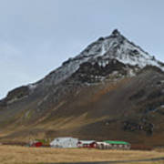 Farm At The Base Of Mt Stapafell Poster
