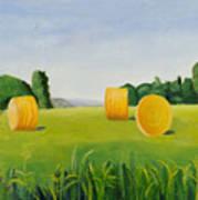 Farm Bales Poster