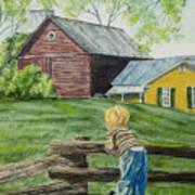 Farm Boy Poster by Charlotte Blanchard