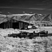 Farm Building In Infrared Poster