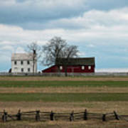 Farm House And Barn Poster