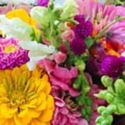 Farm Market Flowers Poster