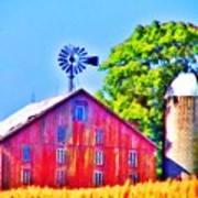 Farm Near Gettysburg Poster